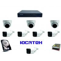 Комплект видеонаблюдения для загородного дома (AHD) №2