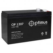 OP 1207 аккумулятор 7Ач 12В Optimus