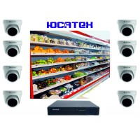Комплект видеонаблюдения для магазина (AHD) №3