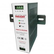 75W/12-24V/DIN блок питания Faraday